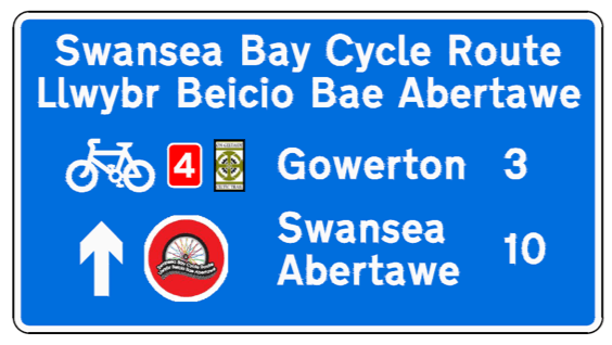 Swansea cycling sign