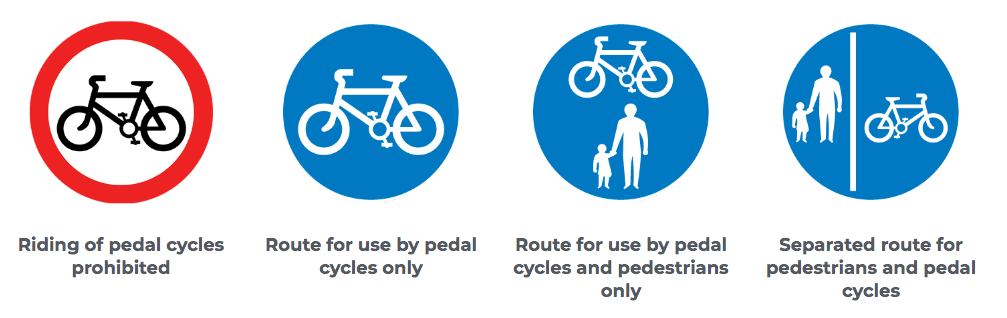 Explanation of cycling signage